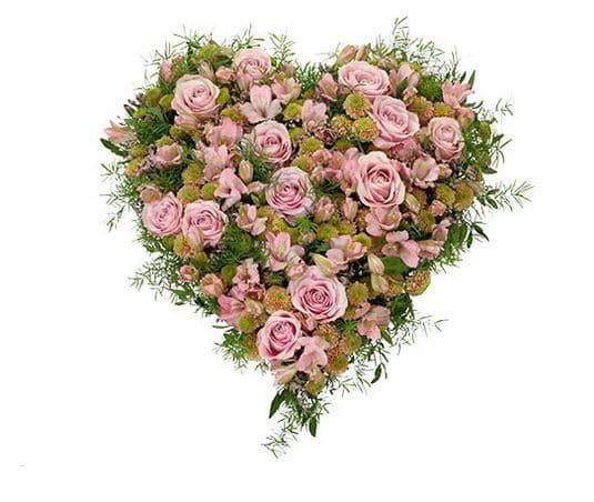 Begravningsdekoration hjärta