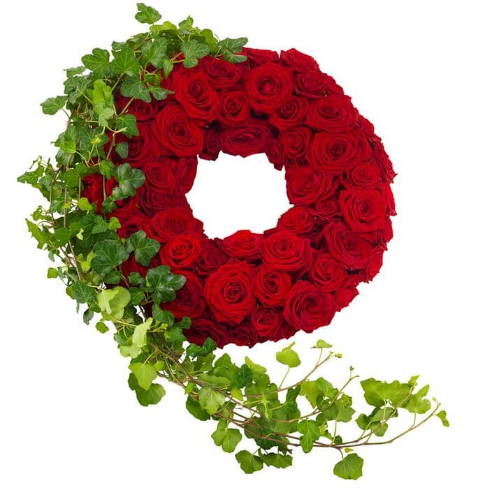 Begravningskrans rosorna